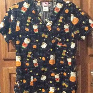 Hello Kitty Halloween  scrub top size small